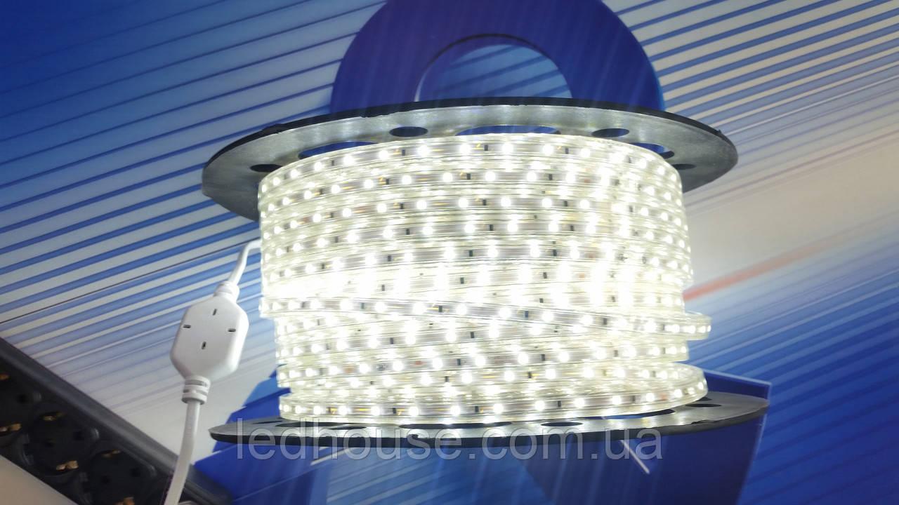 Светодиодная лента 5730-52/led 220В IP68 Теплый белый