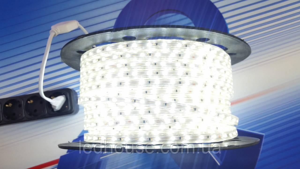 Светодиодная лента от 220V 3528/60 led Белая IP68