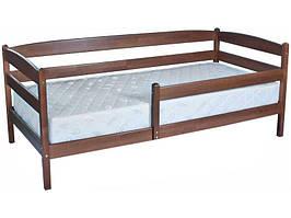 Дерев'яне дитяче ліжко Маріо Люкс з бортиком без ящиків Олімп