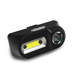 Фонарик на лоб BL-1804A CO XPE, Sensor (налобный, 18650/USB Charge)