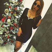 """Облегающее женское платье с шикарным декольте """"Dior"""""""
