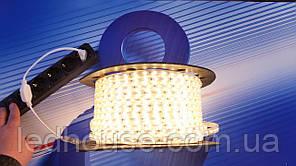 Светодиодная лента 220V 2835/60  Тепло-белый  IP68 PREMIUM