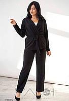 Женский стильный брючный костюм с кардиганом, фото 1