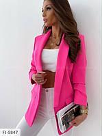 Женский классический пиджак ,яркий пиджак на лето