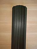 Штахети металеві 105 мм двох сторонній зелений мат (колір темно зелений 6020 мат), фото 2