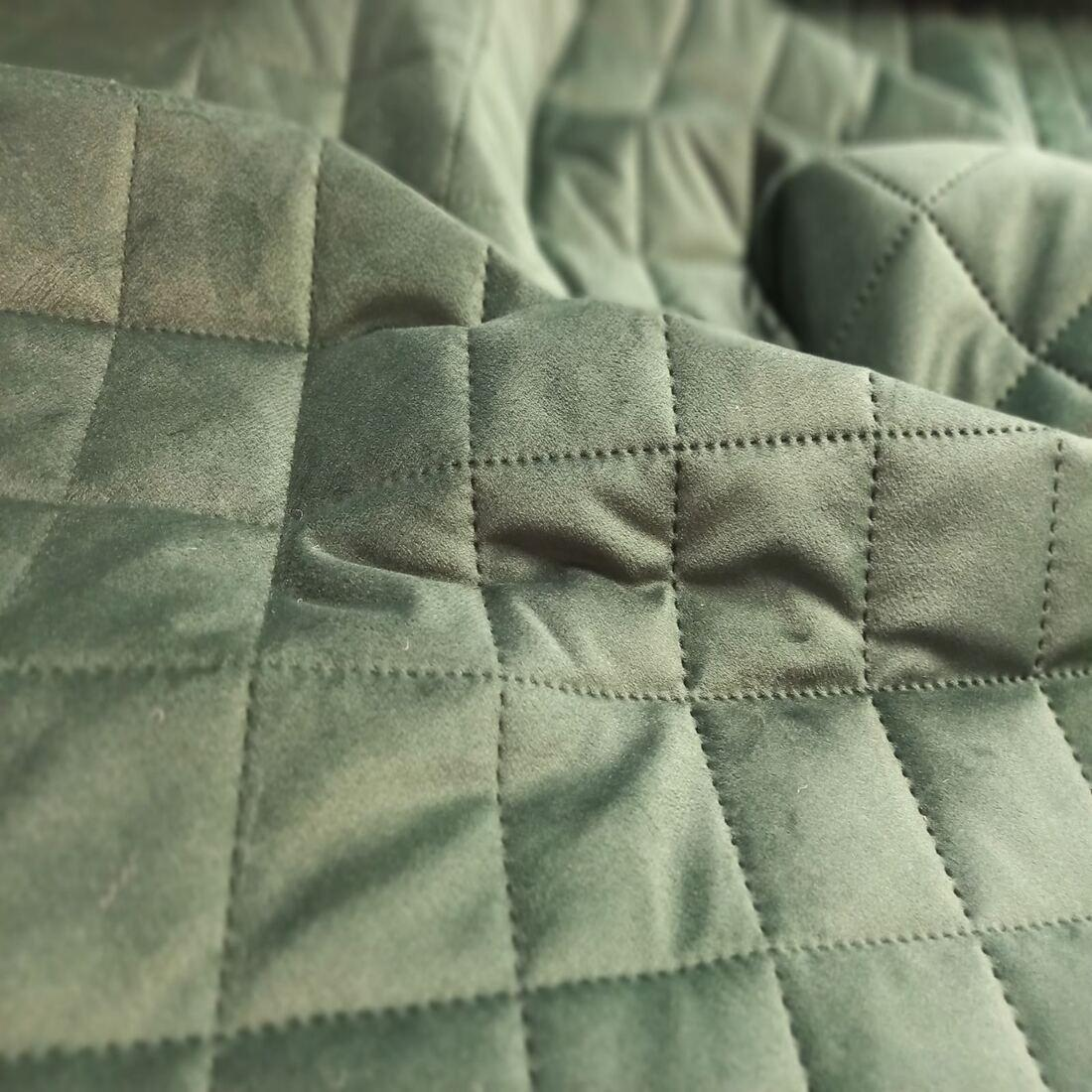 Стьобана тканина Velluto 10 Dark Green Squares М, велюр
