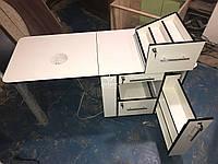 Маникюрный стол со скрытой полкой для лаков Модель V98/1, фото 1