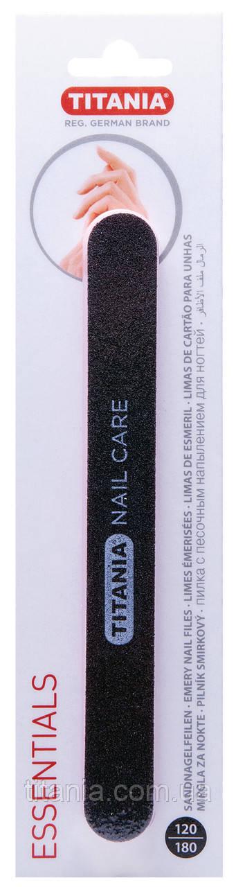 OUTLET Пилочка для ногтей двухсторонняя 120/180 грит. TITANIA art.1032/B