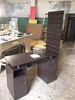 Коричневый маникюрный стол c вытяжкой 16вт Модель V127/1