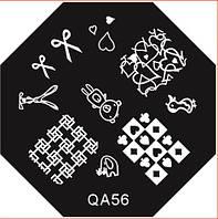 Диск для стемпинга серии QA №56