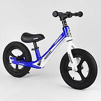 Велобег с большими резиновыми колесами, подножкой, для детей от 2-х до 5-ти лет Corso 91650