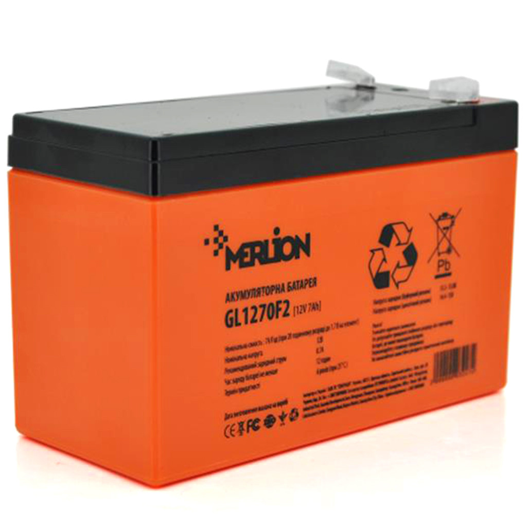 Аккумулятор тяговый Merlion 6DZM7 12V/7Ah для электро транспорта