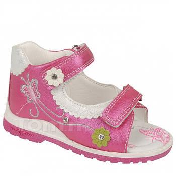 Ортопедические босоножки девочкам от ТомМ, детские сандалии с каблуком Томаса