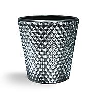 """Горшок керамический для цветов металлизированый матовый """"Жоржина"""" 0.9л Rezon"""