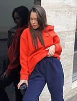 Жіночий стильний теплий спортивний костюм з капюшоном, фото 1