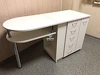 Складной маникюрный стол с двойной столешницей Модель V233, фото 1