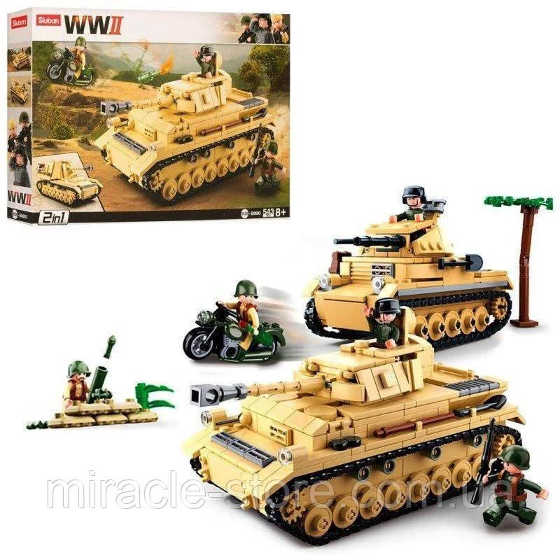 Конструктор Sluban Німецький середній танк Panzer IV 2в1 543 деталі