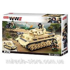 Конструктор Sluban Німецький середній танк Panzer IV 2в1 543 деталі, фото 2