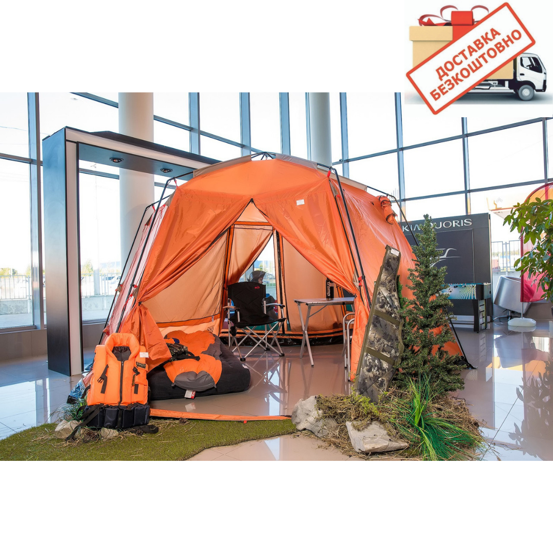 Палатка шатер с москитной сеткой Tramp Lite Mosquito orang TLT-009. Садовый павильон с москиткой