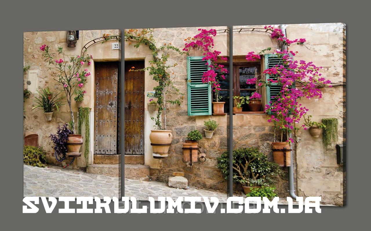 Модульная картина Майорка.Прованс.Город(Испания) 120*70 см Код: 372.3к.120