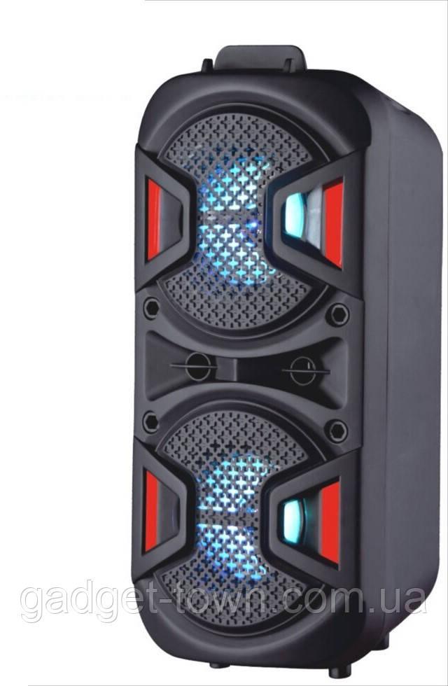 Акустическая аккумуляторная колонка (USB/FM/BT/LED) Lige-A49
