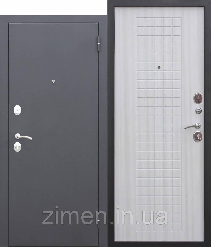Входная дверь Гарда МУАР 8 мм Белый ясень