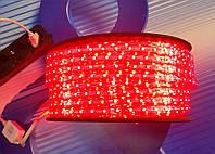 Светодиодная лента 220V smd 3528/60 led Красная  IP68, фото 1