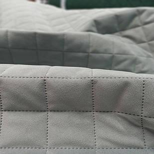 Стеганая ткань Trinity 14 Grey Squares M, велюр