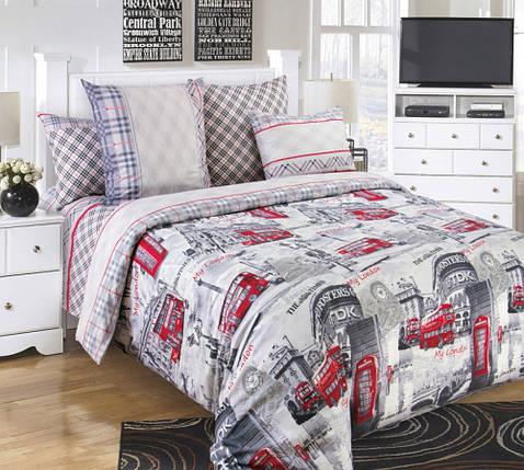 Постільна білизна Лондон перкаль ТМ Комфорт-Текстиль (Сімейний), фото 2