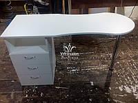 Маникюрный стол с хромированной ножкой Модель А54, фото 1