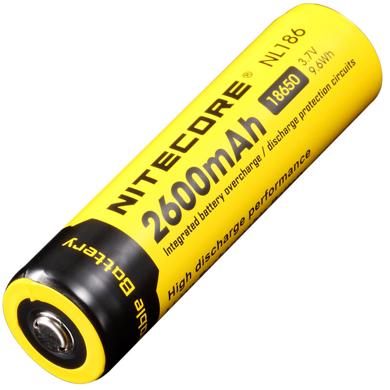 Аккумулятор литиевый Li-Ion 18650 Nitecore NL186 3.7 2600mAh