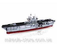 Конструктор Sluban Авіаносець 1088 деталей військовий корабель, фото 3