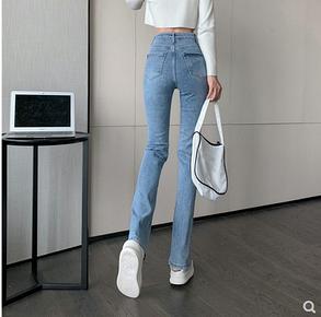 Жіночі джинси з розрізом, фото 2