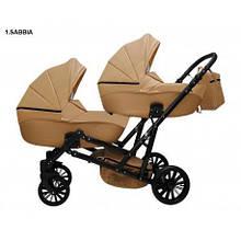 Детская коляска для двойни MIKRUS GEMELLO 01