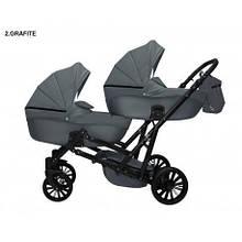 Детская коляска для двойни MIKRUS GEMELLO 02