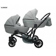 Детская коляска для двойни MIKRUS GEMELLO 08
