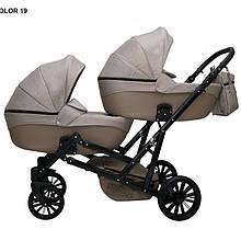 Детская коляска для двойни MIKRUS GEMELLO 19
