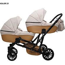 Детская коляска для двойни MIKRUS GEMELLO 21