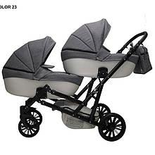 Детская коляска для двойни MIKRUS GEMELLO 23