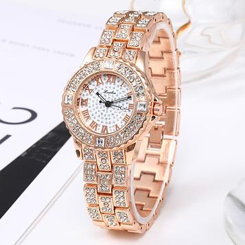 Жіночі годинники з золотистим браслетом код 650