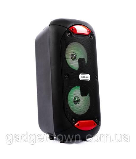 Акустическая аккумуляторная колонка (USB/FM/BT/LED) KOLAV-A52
