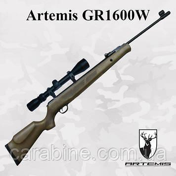 Пневматическая винтовка Artemis GR1600W Газовая пружина + Глушитель и ОП 3-9x40 (Артемис ЖР1600)