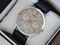 Мужские кварцевые наручные часы Vacheron Constantin на кожаном ремешке, фото 1