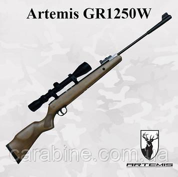 Пневматическая винтовка Artemis GR1250W с Газовой пружиной и ОП 3-9x40 (Артемис ЖР1250)