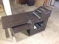 Коричневий манікюрний стіл з висувною полицею Модель V98, фото 1