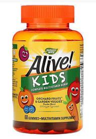 "Детские витамины Nature's Way  Alive! ""Kids Complete Multivitamin Gummy"" (60chewable tablets)"