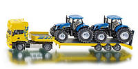 Модель автомобиля Scania с 2 тракторами New Holland M1:50 (SIKU)