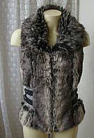 Жилет женский меховой бренд Amisu р.44 4630а