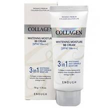 Многофункциональный осветляющий ВВ крем Enough Collagen 3 in 1 Whitening Moisture BB Cream SPF47 PA+++