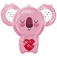 Шарик Коала розовая с сердцем